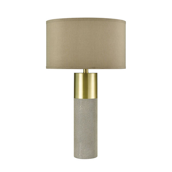 Tulle Brown with Honey Brass One-Light Table Lamp, image 2