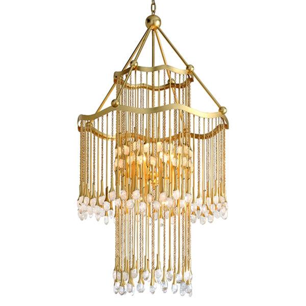 Kiara Gold Leaf 12-Light Chandelier, image 1
