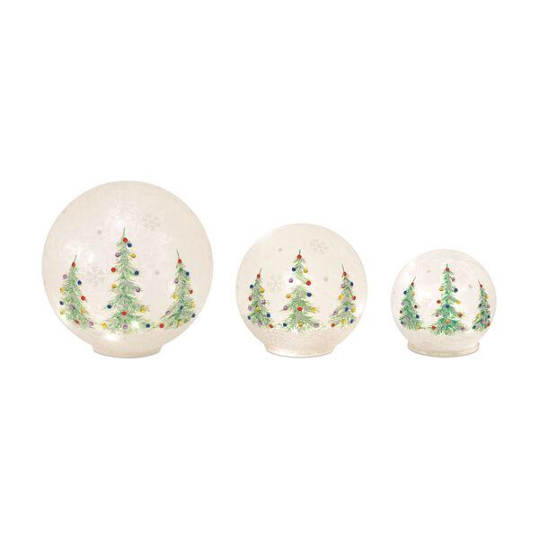 LED Christmas Tree Globe, Set of 3, image 1