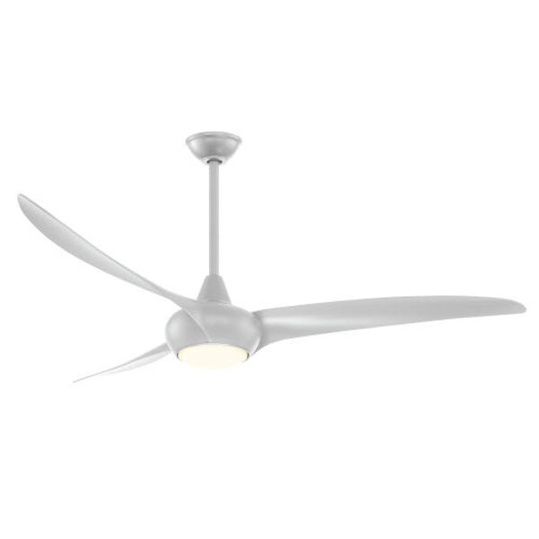 Light Wave Silver 65-Inch LED Ceiling Fan, image 1