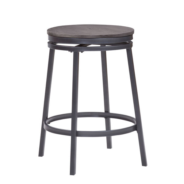 Chesson Gray Backless Counter Stool, image 2