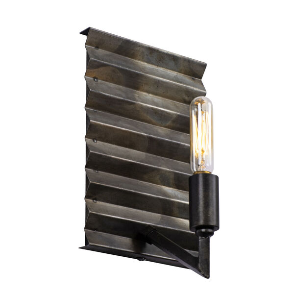 Flynne Ombre Galvanized One-Light Sconce, image 4