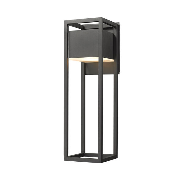 Barwick Black 8-Inch One-Light LED Outdoor Wall Sconce, image 1