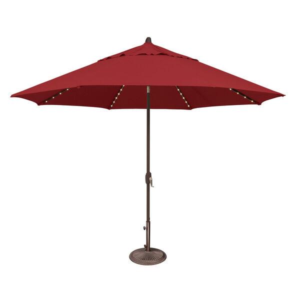 Lanai Pro Really Red Octagon Auto Tilt Market Umbrella, image 1