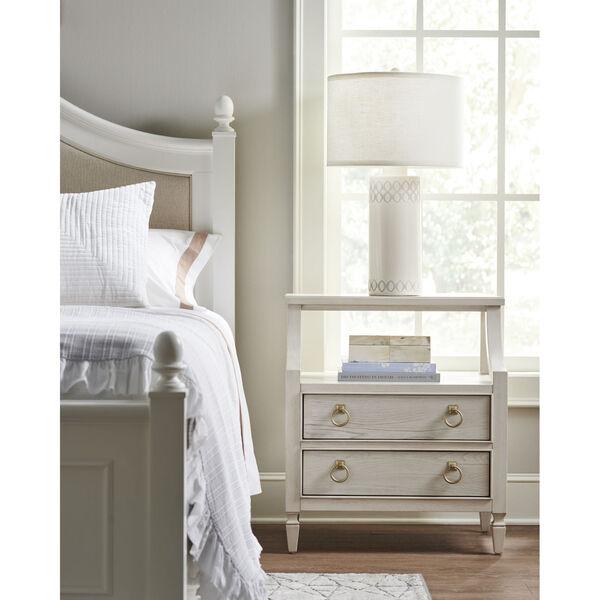Gray One-Drawer Wood Nightstand, image 3
