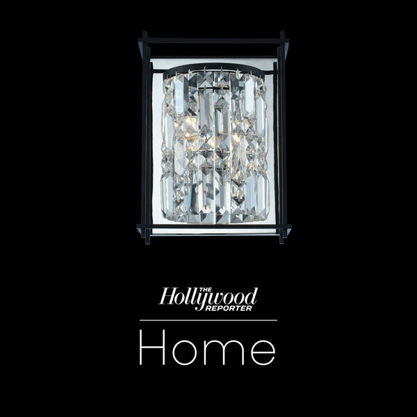 The Hollywood Reporter Joni Matte Black Nine-Inch One-Light Wall Sconce with Firenze Crystal, image 1
