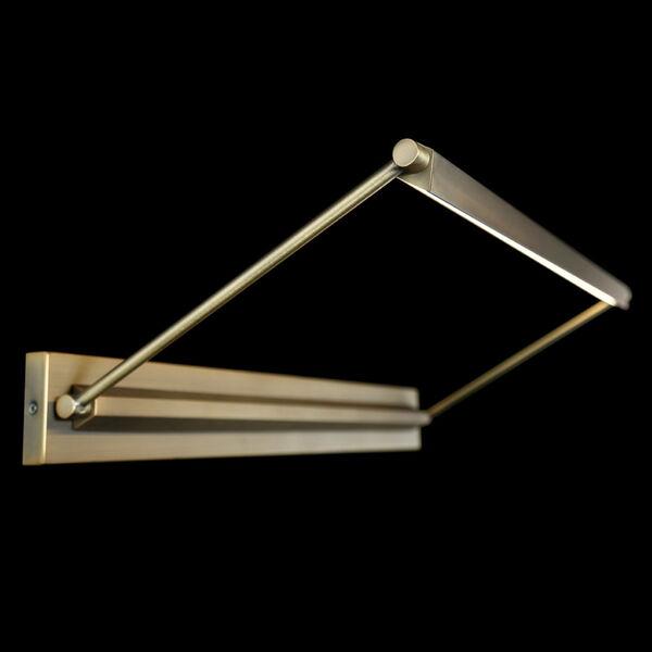Hudson Aged Brass 13-Inch 3000K LED Picture Light, image 2