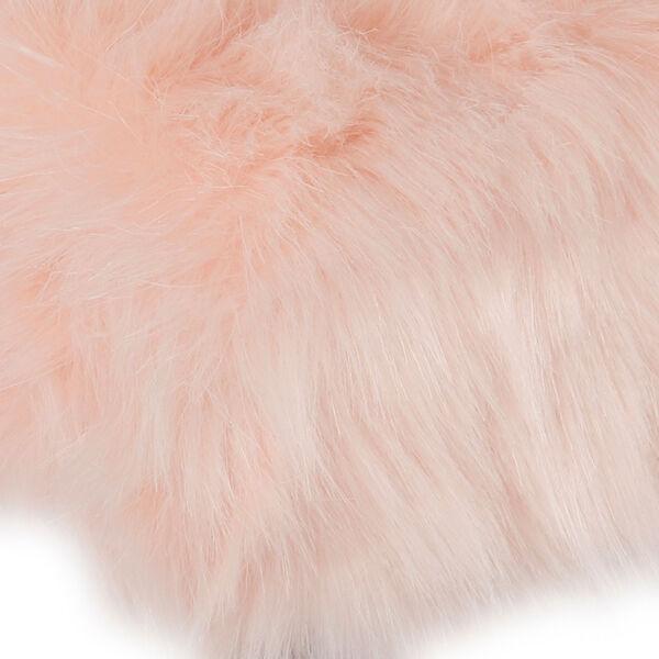 Faux Fur Square Ottoman - Pink, image 3