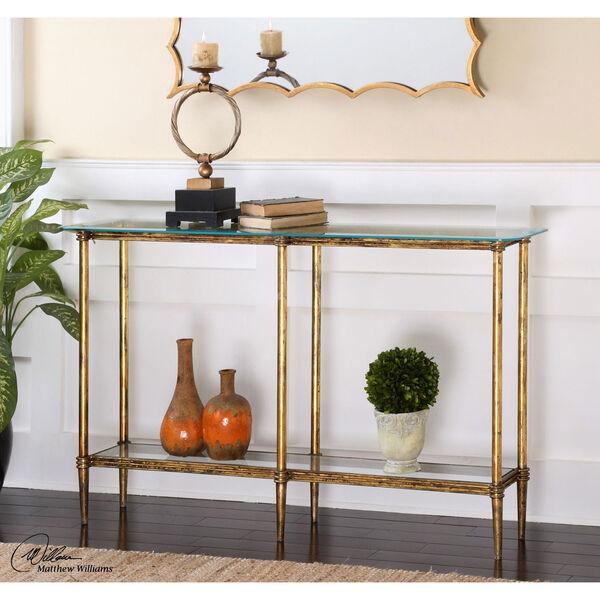 Elenio Bright Gold Console Table, image 2