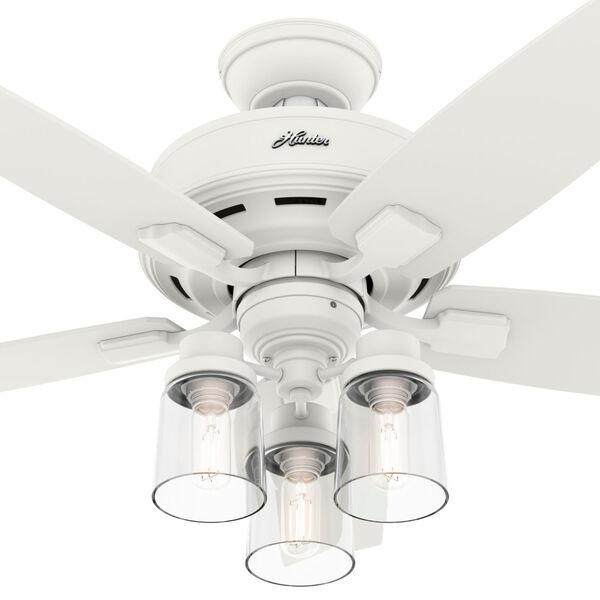 Bennett Matte White 44-Inch Three-Light LED Ceiling Fan, image 4