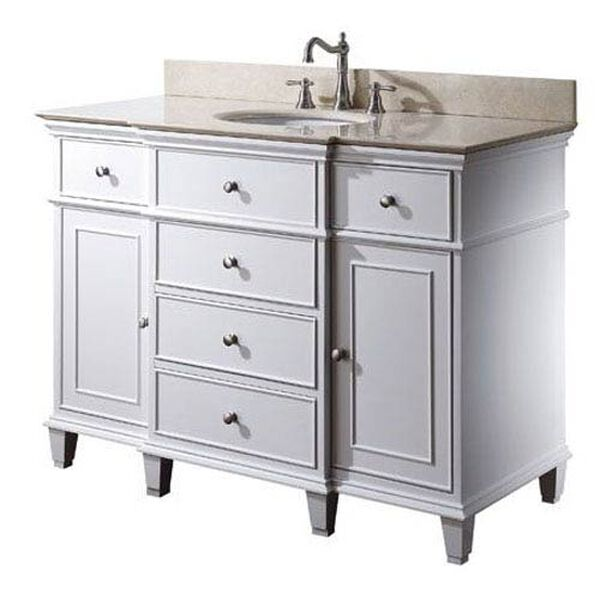 Windsor 48-Inch Vanity Only in White Finish, image 2