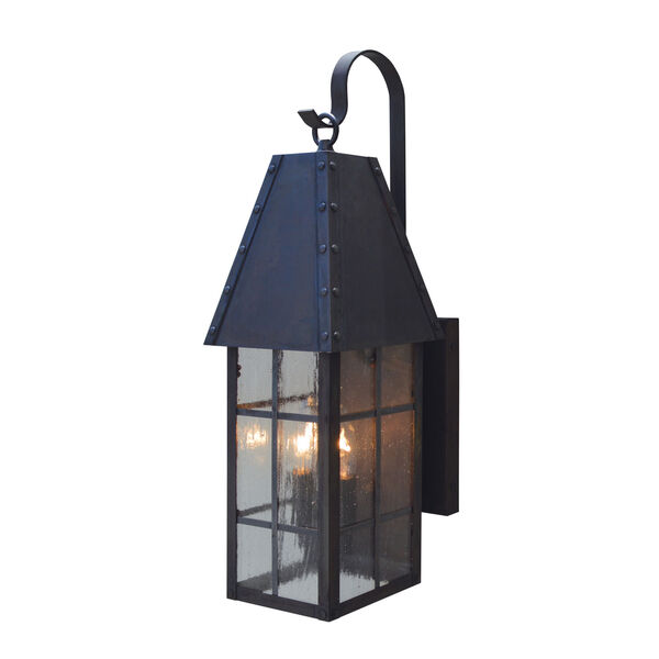 Hampton Mission Brown Two-Light Outdoor Wall Mount, image 1