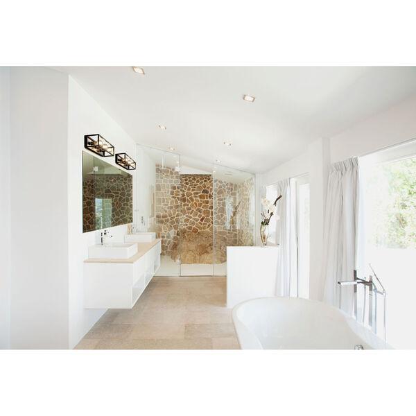 Kube Matte Black and Brushed Nickel Three-Light Bath Vanity, image 3