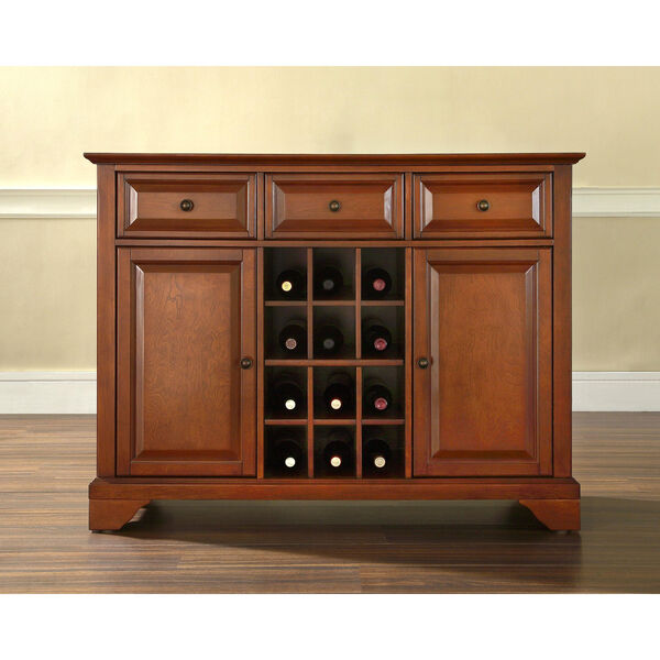 LaFayette Buffet Server / Sideboard Cabinet with Wine Storage in Classic Cherry Finish, image 5