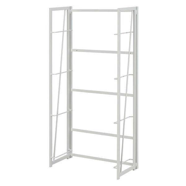 Xtra White Folding Four Tier Bookshelf, image 5