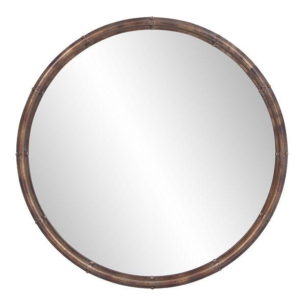 Nova Acid Treated Round Wall Mirror, image 1