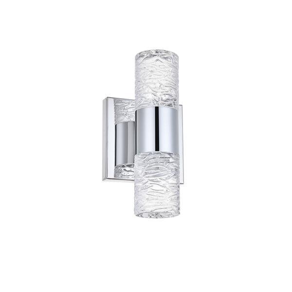 Vega Chrome Five-Inch Two-Light LED Wall Sconce, image 3