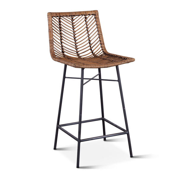 Bali Brown Honey Washed Counter Chair, Set of 2, image 2