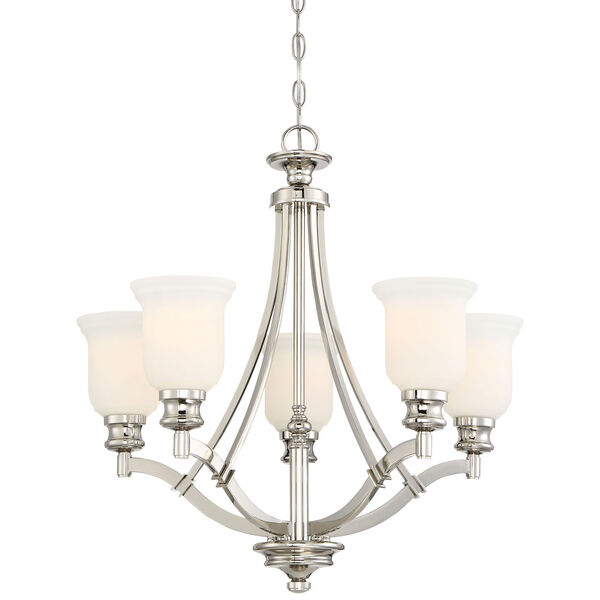Audreys Point Polished Nickel Five-Light Chandlier, image 1