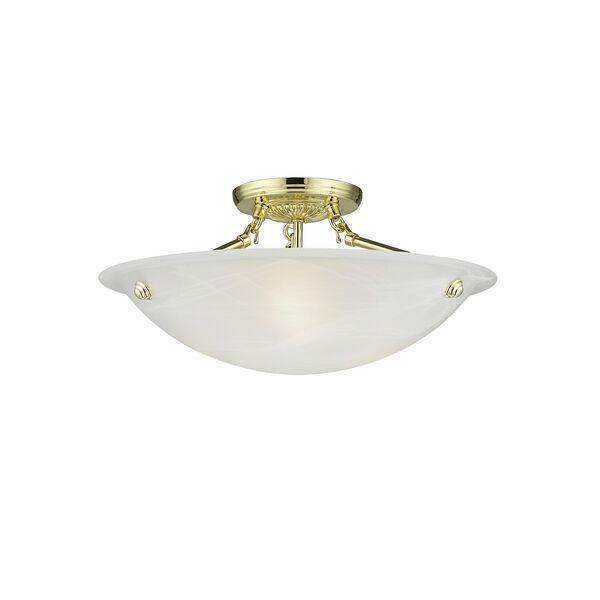 Polished Brass Semi-Flush, image 4