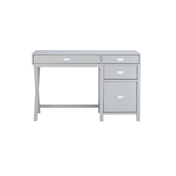 Max Gray Silver Desk, image 2
