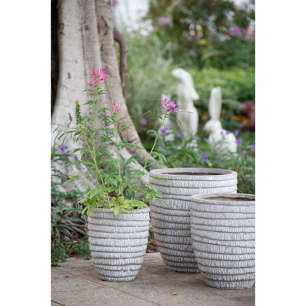 Beige Round Flower Pot ,Set of 5, image 4