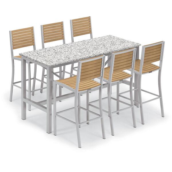 Travira Natural Tekwood Bar Chair, image 4