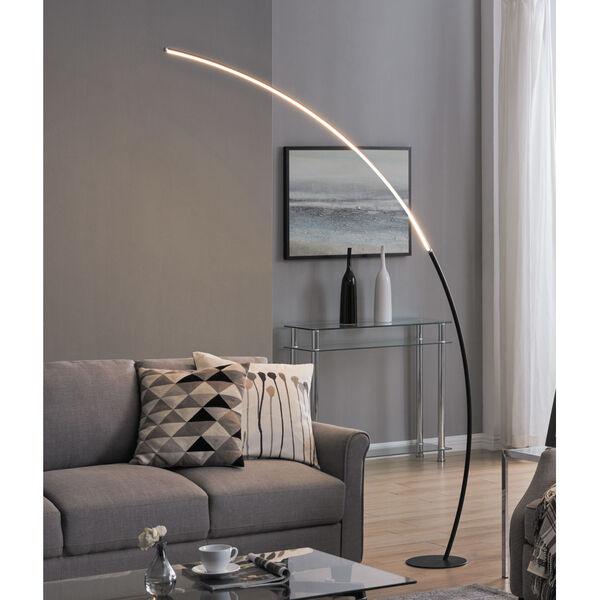 Monita Black LED Arc Floor Lamp, image 2
