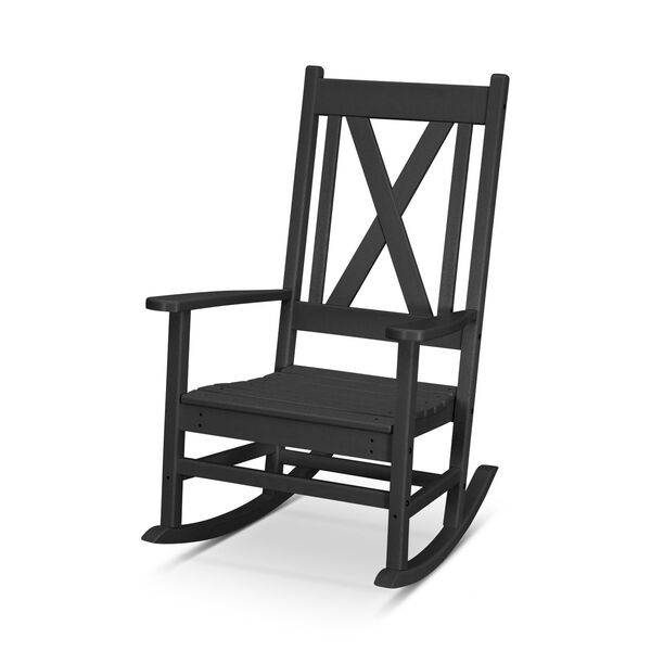 Braxton Black Porch Rocking Chair, image 1