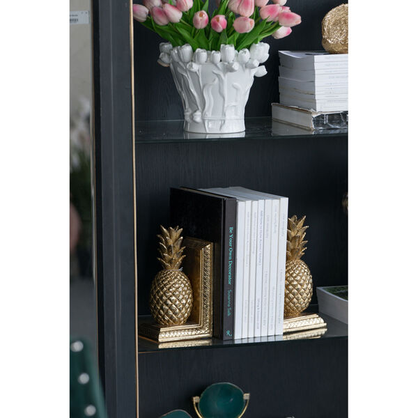 Gold Pineapple Bookend, Set of 2, image 2