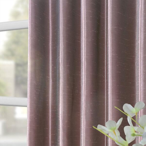 Smoky Plum Vintage Textured Faux Dupioni Silk Single Panel Curtain, 50 X 108, image 8