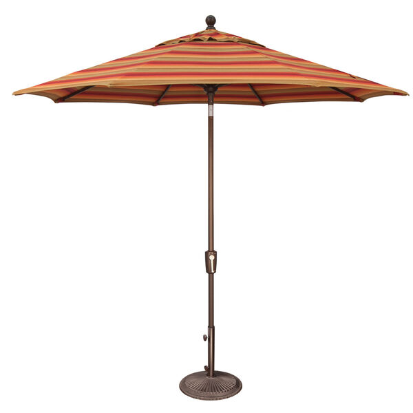 Catalina Astoria Sunset Stripe Market Umbrella, image 1