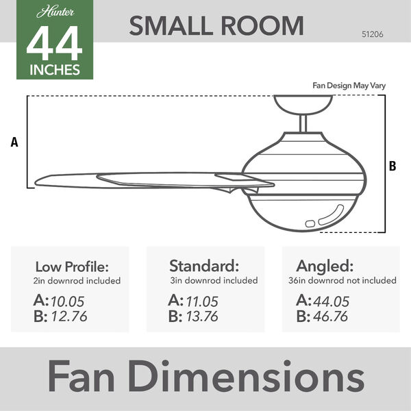 Pacer Indigo Blue 44-Inch Two-Light LED Ceiling Fan, image 7