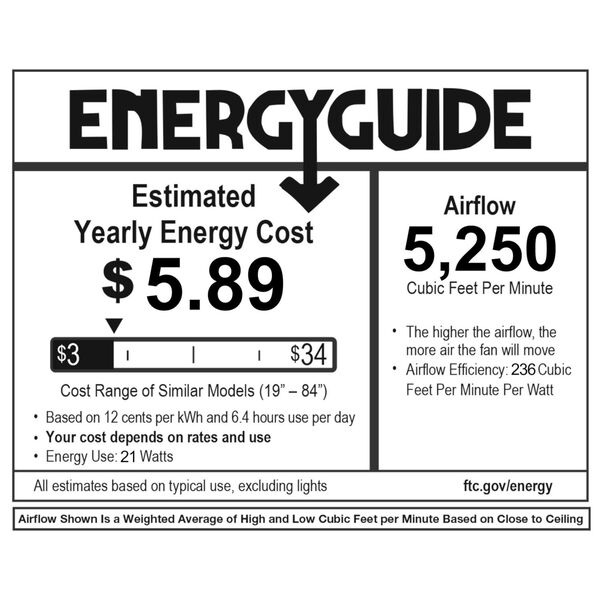 Zephyr Matte White 62-Inch ADA LED Ceiling Fan, 3500K, image 2