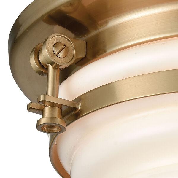Riley Satin Brass Two-Light Flush Mount, image 2