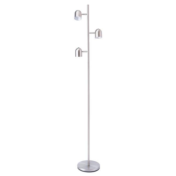 Tiara Brushed Nickel Three-Light LED Floor Lamp, image 1
