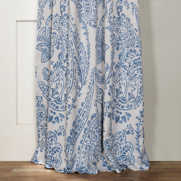 Tea Time China Blue 120 x 50-Inch Blackout Curtain, image 3