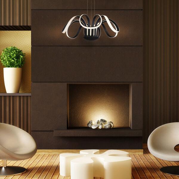 Capella Black 30-Inch LED Adjustable Chandelier, image 3