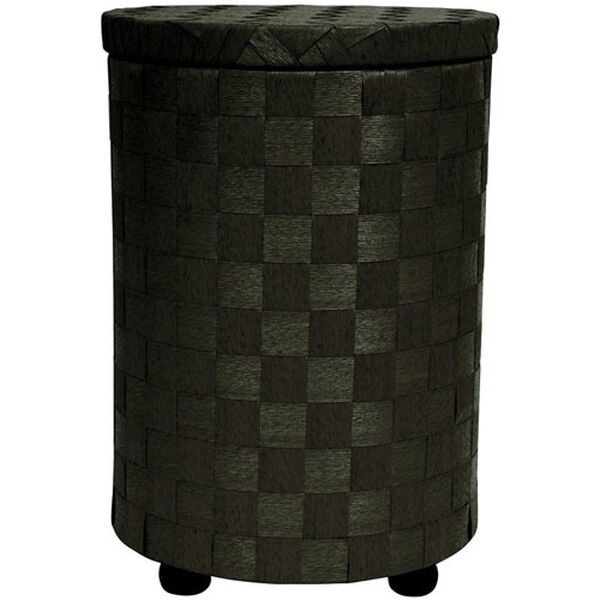 26 Inch Natural Fiber Laundry Hamper Black, Width - 17.25 Inches, image 1