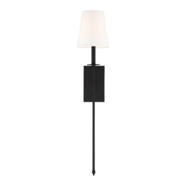 Linden Matte Black Seven-Inch One-Light Wall Sconce, image 5