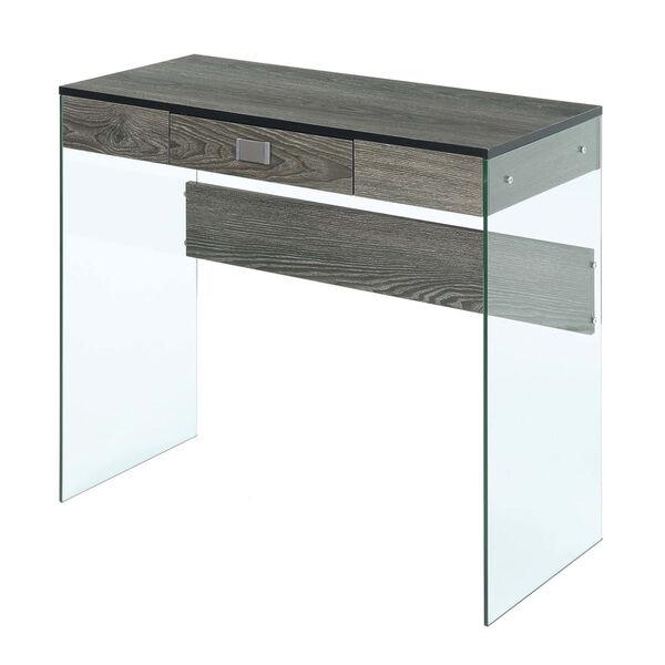 SoHo Weathered Gray Glass 36-Inch Desk, image 4
