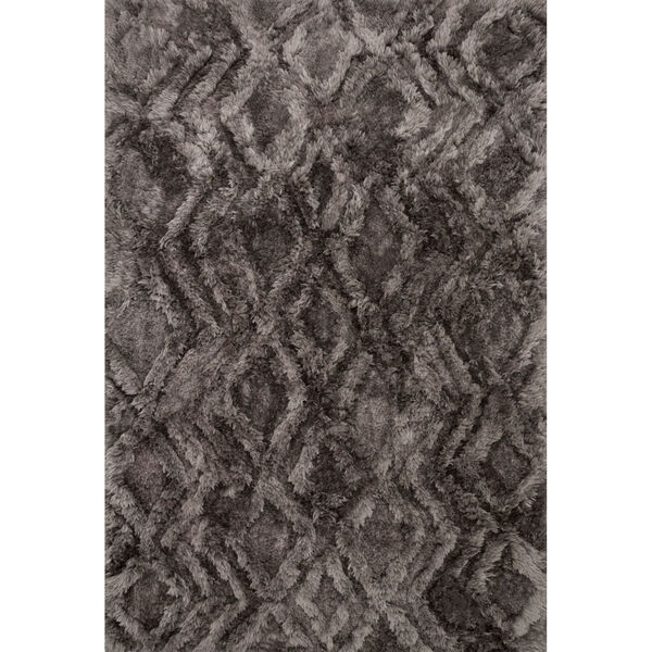 Caspia Charcoal Rectangle: 3 Ft. 6 In. x 5 Ft. 6 In. Rug, image 1