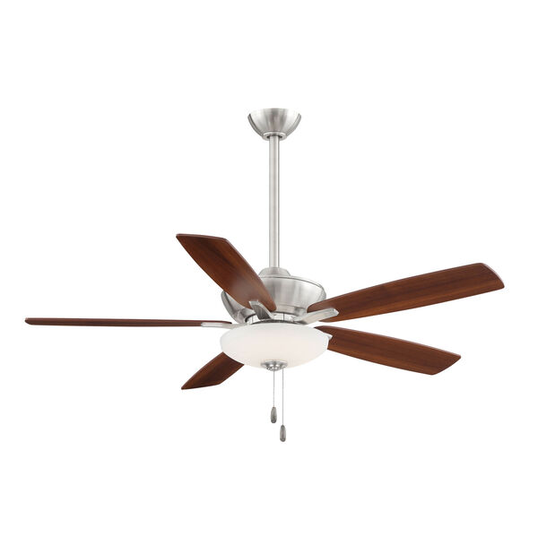 Minute Brushed Nickel and Dark Walnut 52-Inch Energy Star LED Ceiling Fan, image 1