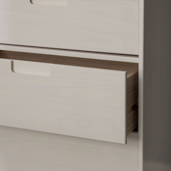 Sloane White Groove Dresser with Six Drawer, image 5