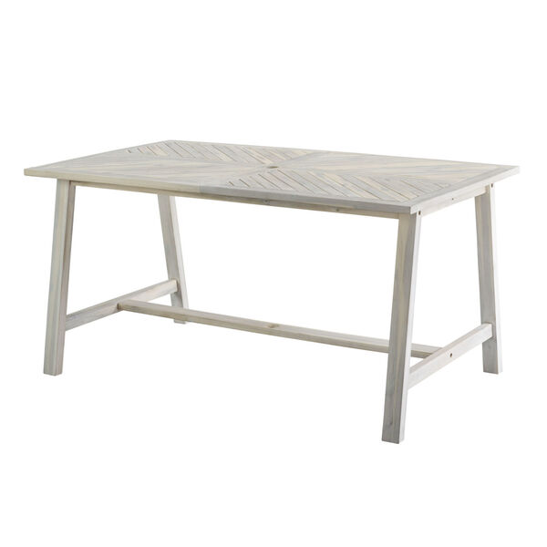 Vincent White Wash Outdoor Dining Table, image 4