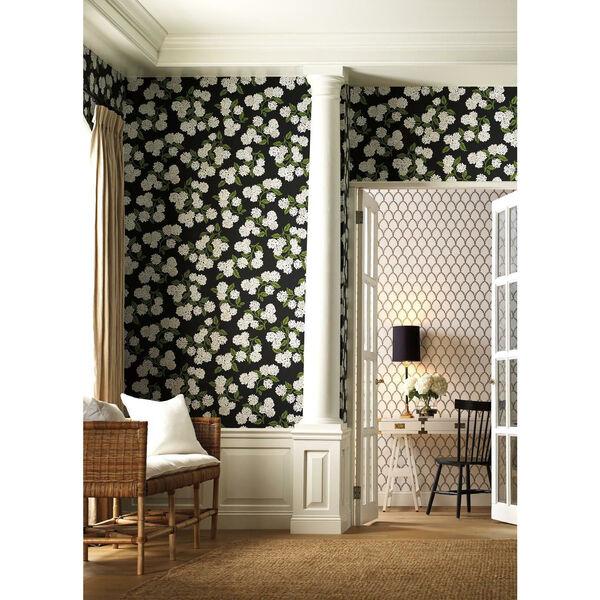 Rifle Paper Co. Black and White Hydrangea Wallpaper, image 1