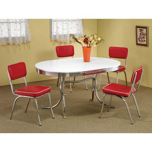 Cleveland Chrome Plated Oval Dining Table, image 2