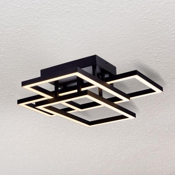 Radium Black 28-Inch LED Semi Flush Mount, image 1