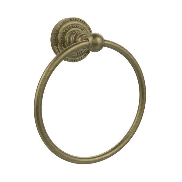 Dottingham Antique Brass Towel Ring, image 1