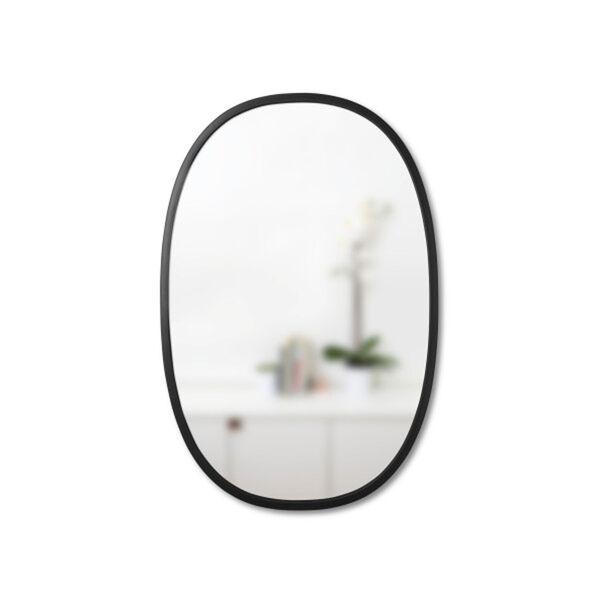 Hub 24 In. Black Oval Wall Mirror, image 2